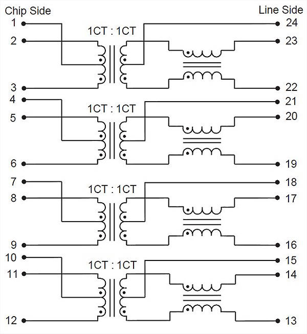 BELL integrated transformers schematic diagram